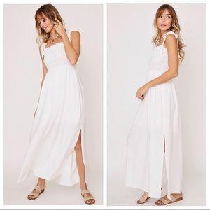 The Perfect Dress! Shoulder Tie Smocking Dress